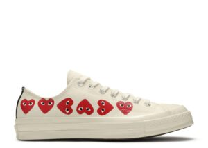 "Converse Chuck 70 Low Top ""Comme Des Garçons PLAY / Multi Hearts White"""