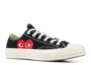 "Converse Chuck 70 Low Top ""Comme Des Garçons PLAY / Half Heart Black White"""